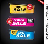 sale and special offer banner ... | Shutterstock .eps vector #709460800
