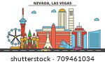 nevada  las vegas.city skyline  ...   Shutterstock .eps vector #709461034
