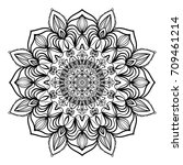 floral mandala decorative... | Shutterstock . vector #709461214