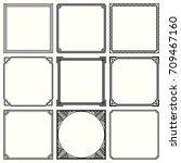 decorative frames  set 52  | Shutterstock .eps vector #709467160