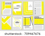 abstract vector layout... | Shutterstock .eps vector #709467676