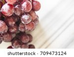 bunches of fresh ripe red... | Shutterstock . vector #709473124