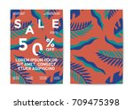 nature sale poster and flyer... | Shutterstock .eps vector #709475398