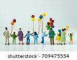 back view of miniature happy...   Shutterstock . vector #709475554