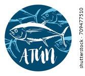 Fish Symbol On White Backgroun...