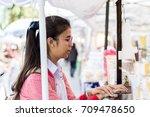 chiangrai thailand january  17... | Shutterstock . vector #709478650