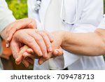 close up medical doctor holding ... | Shutterstock . vector #709478713