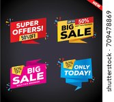 sale and special offer banner ... | Shutterstock .eps vector #709478869