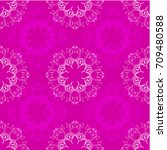 seamless pattern with baroque... | Shutterstock .eps vector #709480588