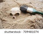 demo archeology dig  | Shutterstock . vector #709481074