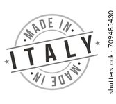 made in italy stamp logo icon... | Shutterstock .eps vector #709485430