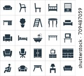 vector illustration set of... | Shutterstock .eps vector #709487059