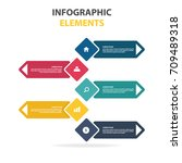 infographics step by step in a... | Shutterstock .eps vector #709489318