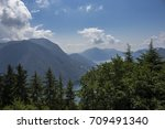 view above lugano from monte... | Shutterstock . vector #709491340