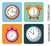 alarm clock stopwatch time... | Shutterstock .eps vector #709492144