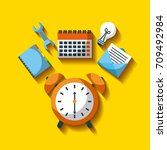 business clock alarm time tool... | Shutterstock .eps vector #709492984