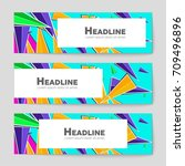 abstract vector layout... | Shutterstock .eps vector #709496896