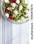 fresh salad with tomatoes ... | Shutterstock . vector #709497874