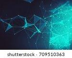abstract digital background... | Shutterstock . vector #709510363