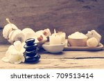 spa wellness concept white... | Shutterstock . vector #709513414