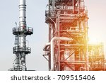 industrial zone the equipment... | Shutterstock . vector #709515406