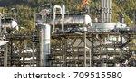 industrial zone the equipment... | Shutterstock . vector #709515580