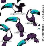 seamless pattern. cartoon... | Shutterstock .eps vector #709516318
