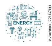 lettering of energy concept... | Shutterstock .eps vector #709517866