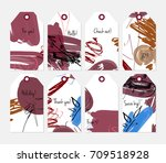 hand drawn creative tags.... | Shutterstock .eps vector #709518928