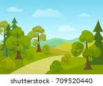 natural landscape with village... | Shutterstock .eps vector #709520440