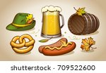oktoberfest elements  symbols...   Shutterstock .eps vector #709522600