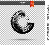 hand drawn circle shape. label  ... | Shutterstock .eps vector #709526218