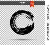 hand drawn circle shape. label  ... | Shutterstock .eps vector #709526248
