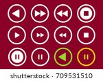 player icons set. multimedia.... | Shutterstock .eps vector #709531510