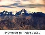 colorful  mountain at ladakh... | Shutterstock . vector #709531663