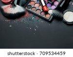 Set Of Makeup Brush And...