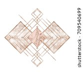 rose gold. trendy geometric... | Shutterstock .eps vector #709540699