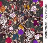 realistic detailed tile pattern ... | Shutterstock .eps vector #709541080