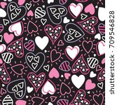 seamless love pattern vector... | Shutterstock .eps vector #709546828