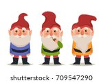 stylized cartoon characters.... | Shutterstock .eps vector #709547290
