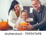 family are celebrating...   Shutterstock . vector #709547698