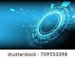 vector digital circuit... | Shutterstock .eps vector #709553398