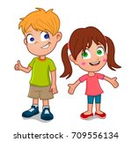 boy and girl | Shutterstock .eps vector #709556134