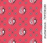seamless paisley  pattern ...   Shutterstock .eps vector #709558180