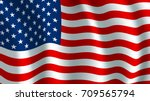 usa america flag. vector us... | Shutterstock .eps vector #709565794