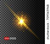 light flash with glittering... | Shutterstock .eps vector #709565968