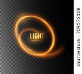 Glowing Helix Line. Swirling...