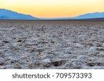 view of salt flats in badwater...   Shutterstock . vector #709573393
