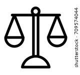 balance line vector icon | Shutterstock .eps vector #709574044