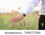 concept of freedom with hand of ... | Shutterstock . vector #709577200
